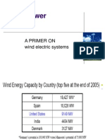 Wind Energy Notes