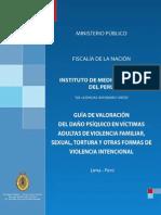 Guía de valoración del daño psíquico en víctimas de violencia