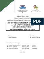 SIG et télédétection appliquée à la cartographie des milieux forestier