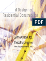 Structural Design for Residential Construction