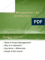 Session 1 - Project Management – An Introduction