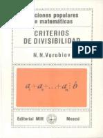7354612 Vorobiov Criterios de Divisibilidad Espanhol