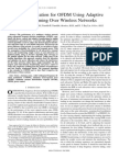 Power Allocation for OFDM Using Adaptive Beamforming Over Wireless Networks