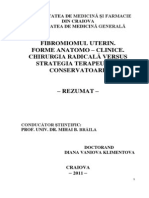 FIBROMUL UTERIN_ FORME ANATOMO-CLINICE_ CHIRURGIA RADICALĂ VERSUS STRATEGIA TERAPEUTICĂ CONSERVATOARE