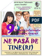 """Buletinul informativ de tineret """"9 ne pasă de Tine(ri)"""
