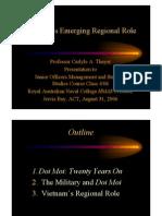 Thayer Vietnam's Regional Role 2006