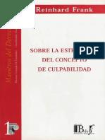 01 - Sobre La Estructura Del Concepto de Culpabilidad - Frank Reinhard