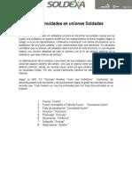 Discontinuidades en Uniones Soldadas.