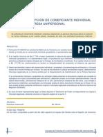 02 Inscripción de Comerciante Individual o Empresa Unipersonal