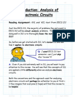 Analysis of electronic circuits