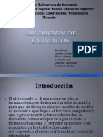 Absorcion de Farmacos