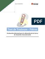 Evaluación Informal para la obtención de la Curva de Atención - TOULOUSE PIERON