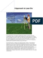 A Practical Approach to Lean Six Sigma
