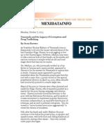 Hugo Chavez Legacy of Corruption and Drug Trafficking