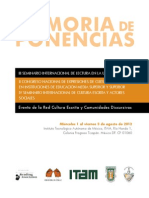 Memorias Lectura Universidad 2012