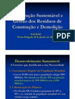 Gestão de Resíduos de Construção e Demolição