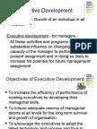 Objectives of Executive Development 1