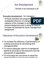 Objectives of Executive Development 1