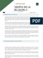 Filosofía de la Religión II