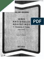 Julián Aguirre - Aires Nacionales Argentinos. 1º cuaderno 5 Tristes.pdf