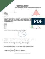Lista de Exercc3adcios Trigonometria 1c2ba Ano Do Ensino Mc3a9dio2