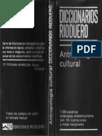 Diccionario Antropología Cultural