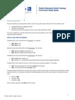 Pre Arrival Study Guide