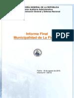Informe Final 109 10 Municipalidad de La Florida Fondos Destinados a Emergencia Agosto 20101
