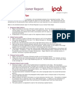 16PF Practitioner Report Interpretation Tips