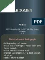px. Abdomen radiologi