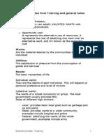 Economics Notes- Tutoring