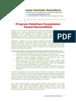 Program Pelatihan Pengobatan Herbal Bersertifikat