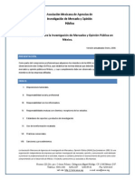 Codigo de Etica Amai, investigacion de mercados