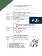 grade two aeta village field trip schedule