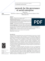 A framework for the governanceof social enterprise