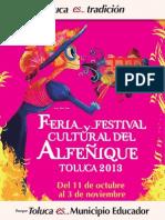Programa Feria y Festival Cultural Del Alfegnique Toluca 2013