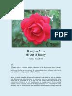 Beauty in Art or the Art of Beauty