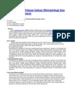 Teknik Pengiriman Bahan Histoptologi Dan Bahan Pap Smear