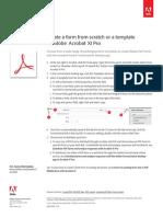 Adobe Acrobat Xi Cgregreate Form or Template Tutorial Ue