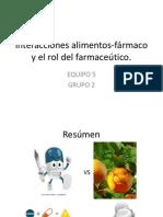 Interacciones alimentos-fármaco y el rol del farmaceútico