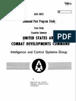1973 US Air Force Command Post Program Study Executive Summary 18p