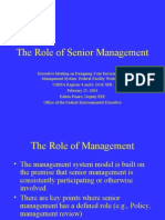 The Role of Senior Management