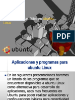 Aplicaciones y Programas en Ubuntu