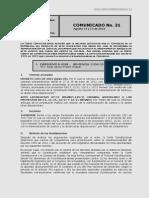 No. 31 Comunicado 14 y 15 de Agosto de 2013