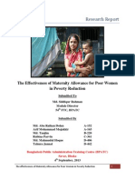 The Effectiveness of Maternity Allowance for Poor Women in Poverty Reduction
