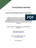 Cálculo Distribución Eléctrica Normativo técnico para instalación aérea y subterránea sistemas eléctricos y telecomunicaciones