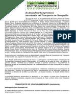 Acta Del Transporte en Cieneguilla