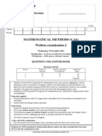 2011 Mathematical Methods (CAS) Exam 2