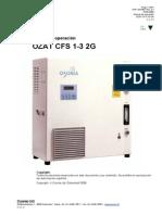 Manual CFS-1 2G Ozonador