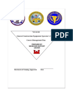 2006 Us Army General Construction Equipment Operator Course Phase 2 21j10 Cmp 44p